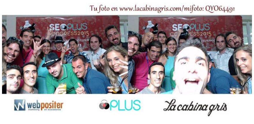 El photocall de La cabina gris estuvo en la fiesta networking del evento SEOPlus 2015