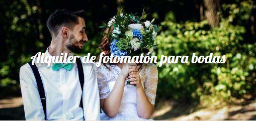 Pon un fotomatón en tu boda