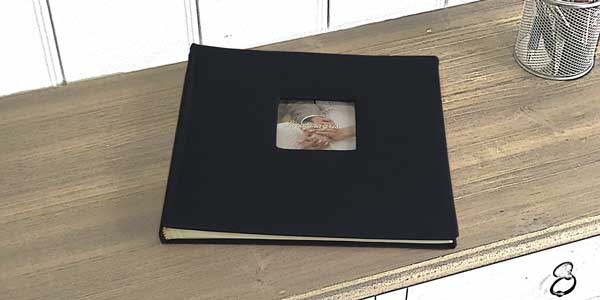 Album azul marino para fotomaton