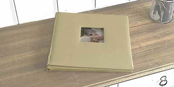 Album de fotos de color beig para fotomatón
